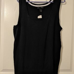 New Tank Top From Lane Bryant Black Size 18/20